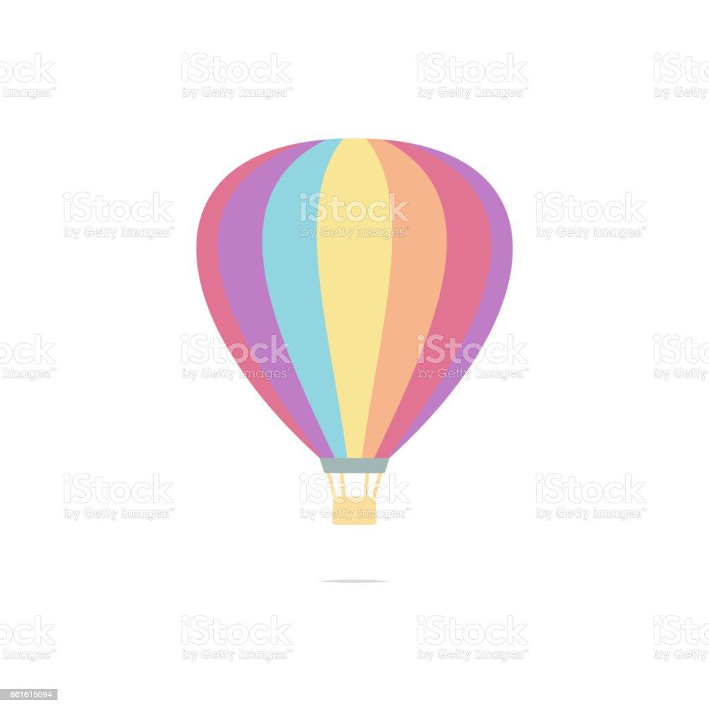 Hot air balloon vector vector art illustration