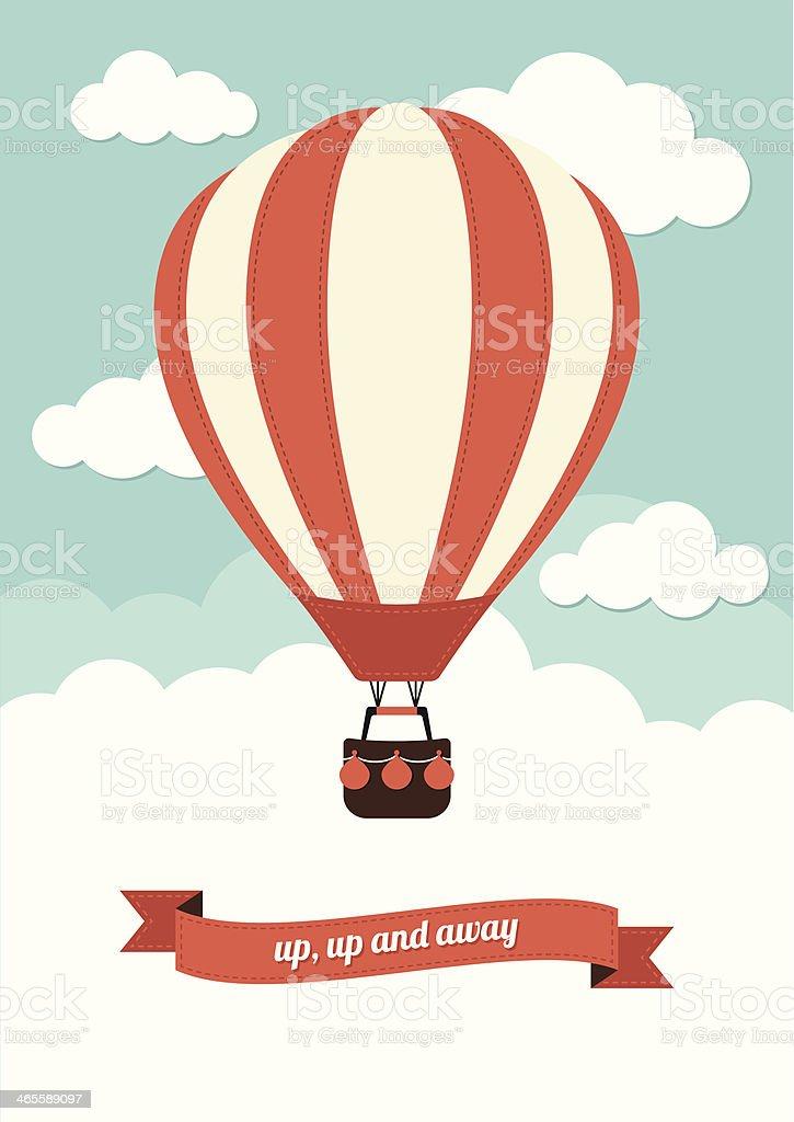 An illustration of a hot air balloon.