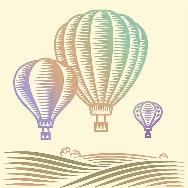Heißluftballon – Vektorgrafik