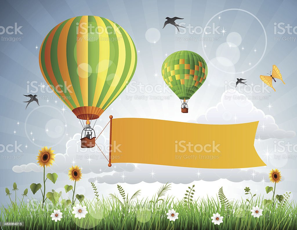 Hot Air Balloons royalty-free hot air balloons stock vector art & more images of adventure