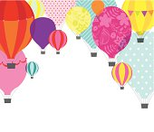 Hot air balloons design with some spce for your copy underneath.