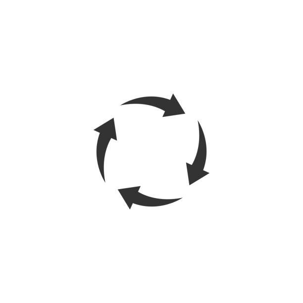hot air circulation icon - vector illustration vector art illustration