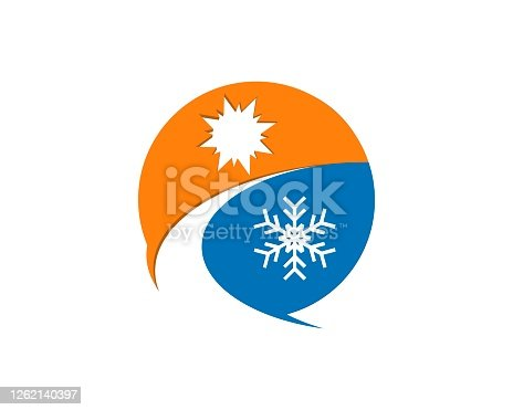 istock Hot and cold circle weather 1262140397