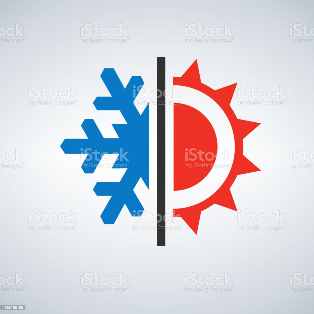 Hot And Cold Symbol Sun And Snowflake Stock Vector Art More Images