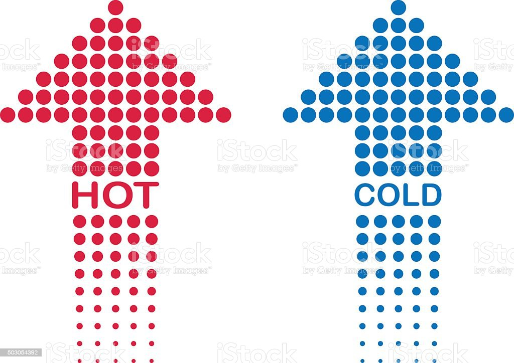 hot and cold vector art illustration