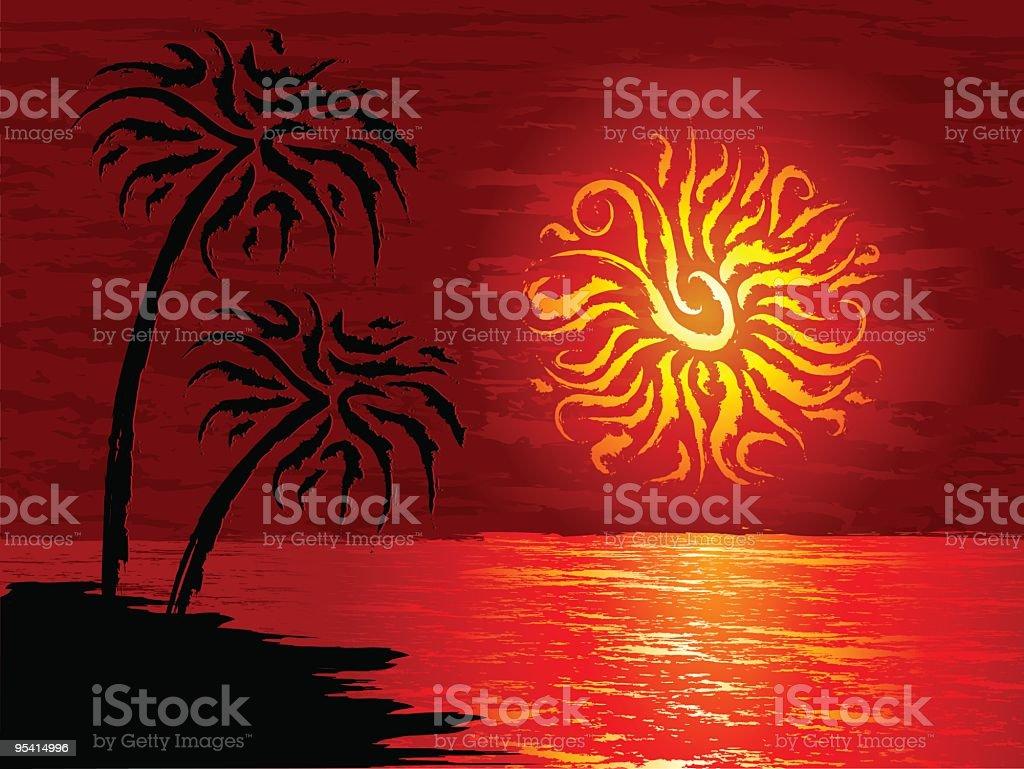 Hot beach royalty-free stock vector art