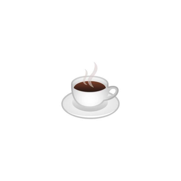 ilustrações de stock, clip art, desenhos animados e ícones de hot beverage vector icon. cup of tea. isolated coffee, tea, cappuccino illustration - chá bebida quente