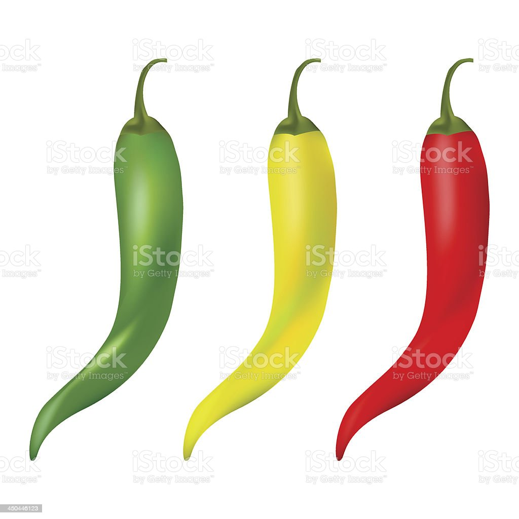 Hot chilli pepper royalty-free stock vector art