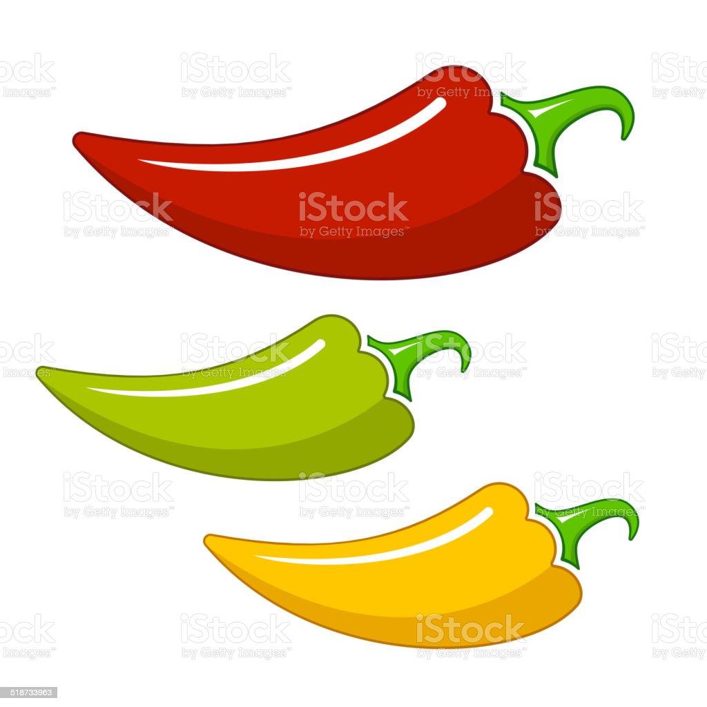 Hot chilli vector art illustration