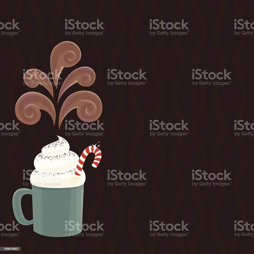 Hot Chocolate background vector art illustration