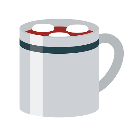 Hot Chocolate Icon on Transparent Background