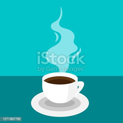 hot coffee cup icon- vector illustration.