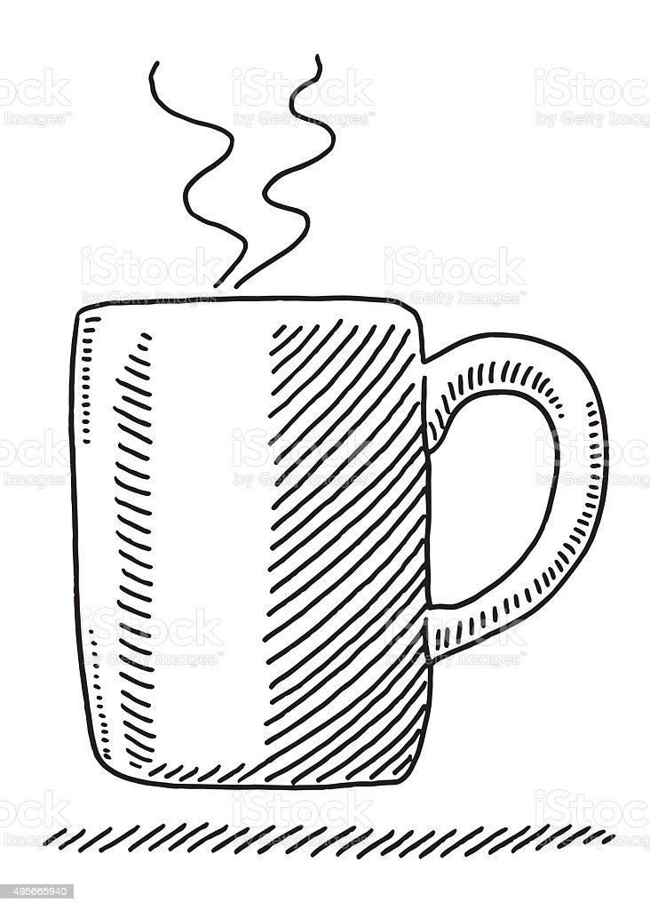 Tazza Di Caffè Bollente Disegno Immagini Vettoriali Stock E Altre