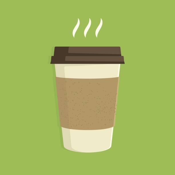 bildbanksillustrationer, clip art samt tecknat material och ikoner med hett kaffe - kaffekopp