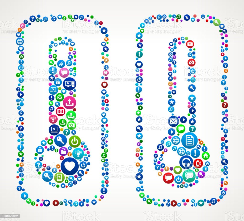 Hot Cold Thermometers Internet Communication Technology Icon Pattern vector art illustration