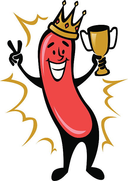 Hot Dog Champion vector art illustration