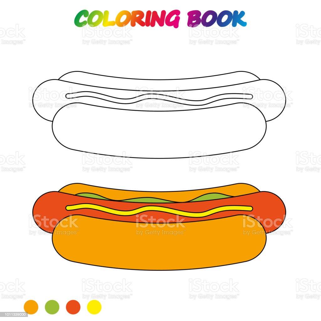 Hot Dog Boyama Kitabi Okul Oncesi Cocuklar Yetistirmek Icin Boyama
