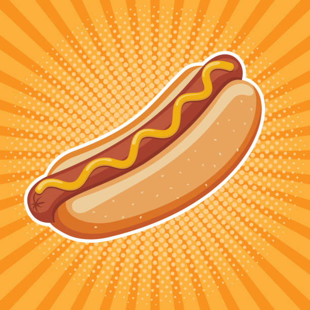 hot dog delicious fast food best choice poster template vector hot dog delicious fast food best choice poster template vector azerbaijan stock illustrations