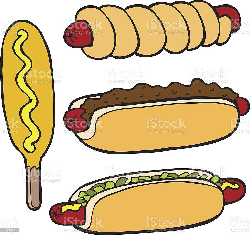 Hot Dog Food Items royalty-free hot dog food items stock vector art & more images of bun