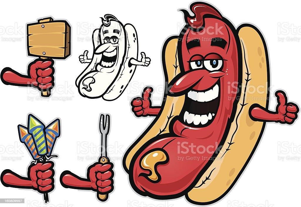 Hot Dog Illustration vector art illustration