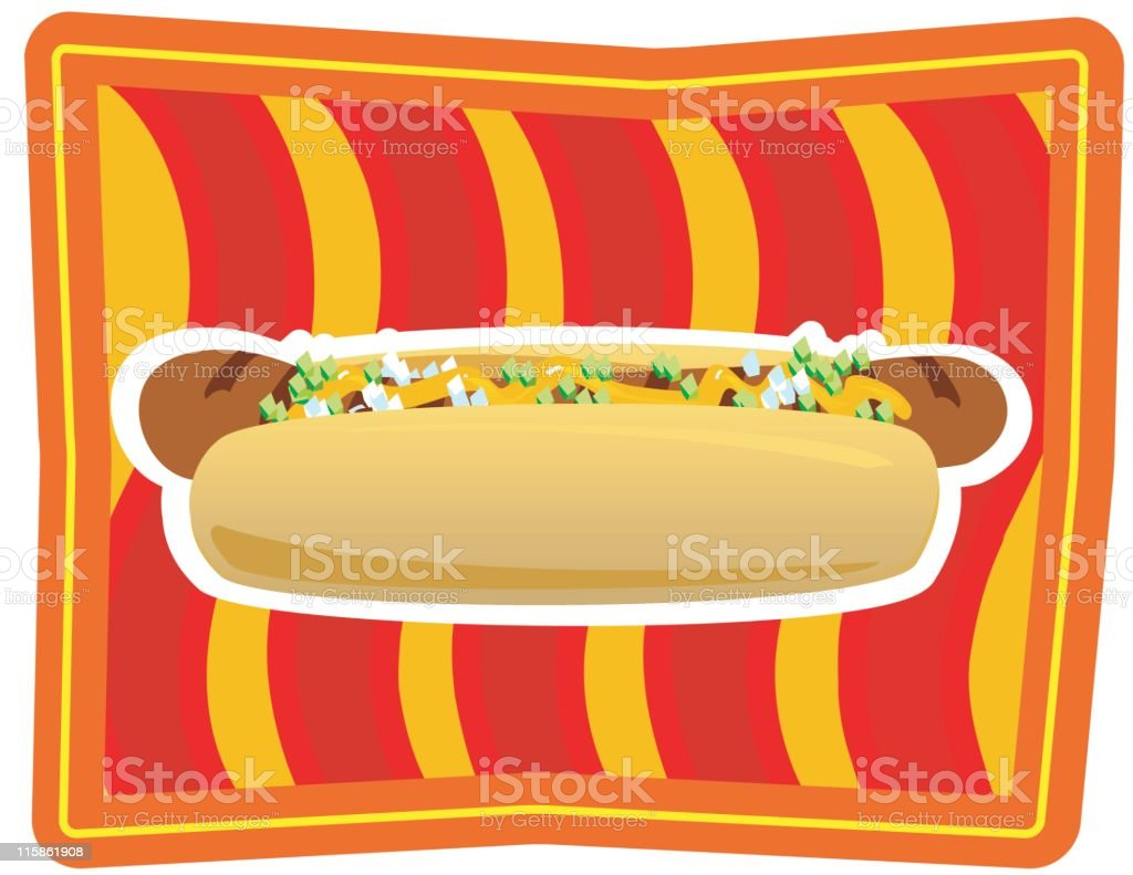 Hot Dog - Kitsch food royalty-free stock vector art