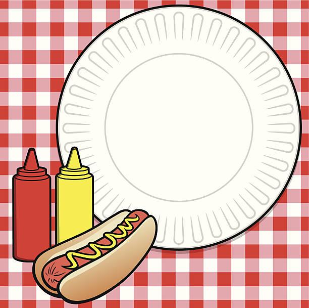 hot-dog-menü - plastikteller stock-grafiken, -clipart, -cartoons und -symbole