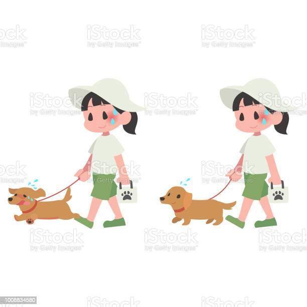 Hot dog pet walk women summer heat stroke set vector id1008834580?b=1&k=6&m=1008834580&s=612x612&h=04txmhkg0dzbqcq56afx68agkrczfaodqzdlj tkxsc=