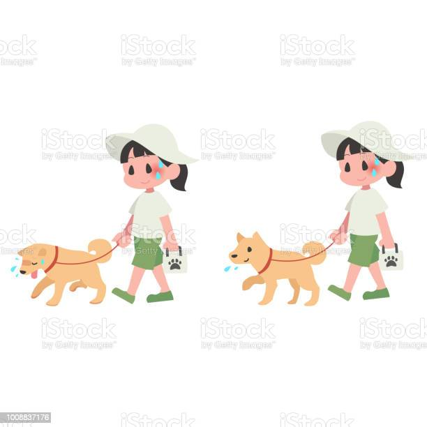 Hot dog pet walk women summer heat stroke set vector id1008837176?b=1&k=6&m=1008837176&s=612x612&h= tyfn3t30s7ulvqqtrphtmgyhsg9alixmi5b8xjygiw=