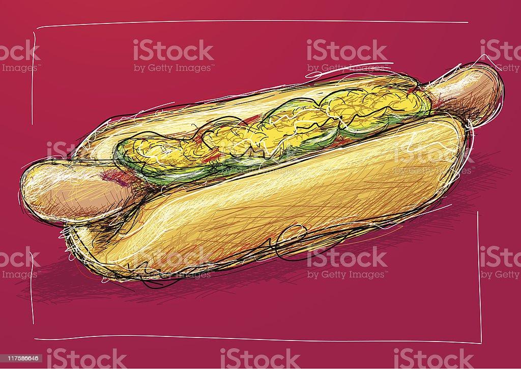 hot dog royalty-free hot dog stock vector art & more images of bun