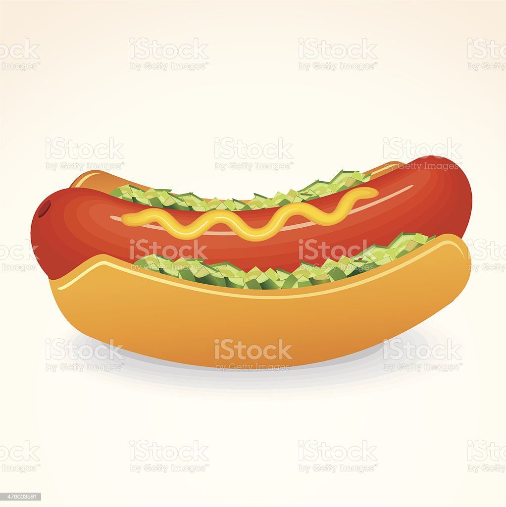 Hot Dog vector art illustration