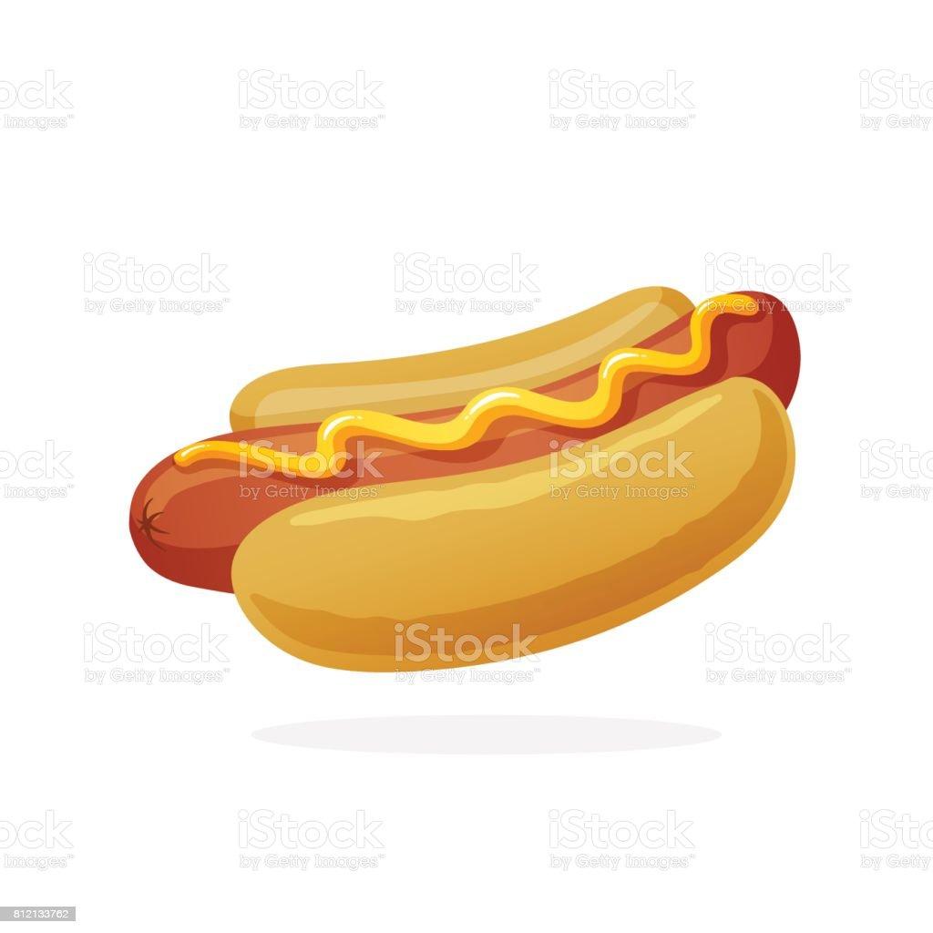 royalty free hot dog clip art vector images illustrations istock rh istockphoto com hotdog clipart hot dog clip art wearing graduation cap