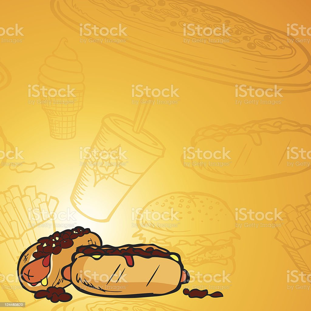 Hot dogs background stock vector art more images of backgrounds hot dogs background royalty free hot dogs background stock vector art amp more images voltagebd Gallery