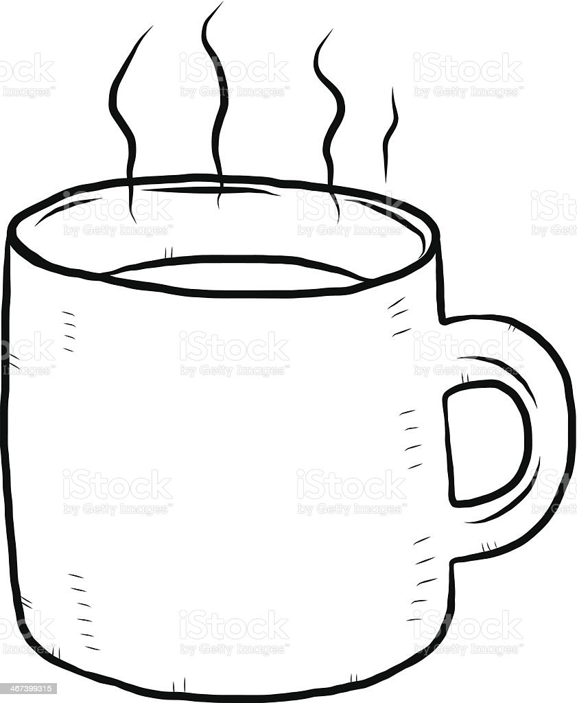 hot drink hand drawn vector art illustration