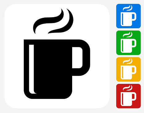Hot Drink Icon Flat Graphic Design