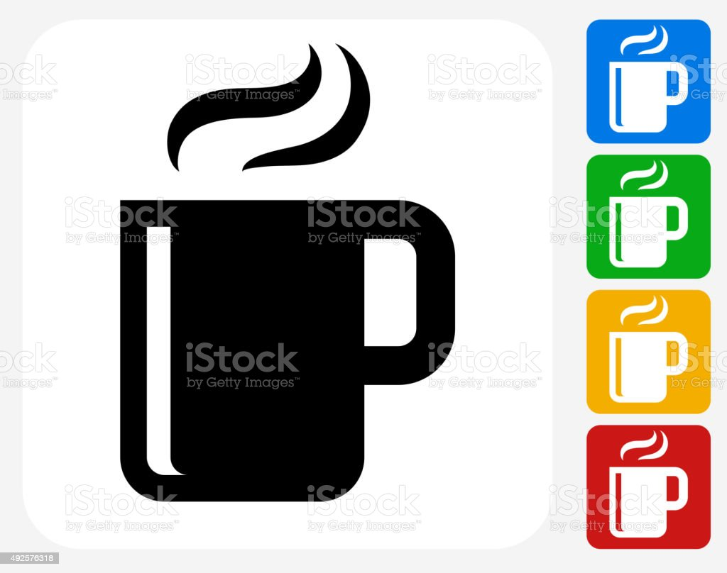 Hot Drink Icon Flat Graphic Design vektör sanat illüstrasyonu
