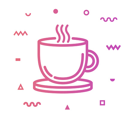 Hot Drink Line Style Icon Design