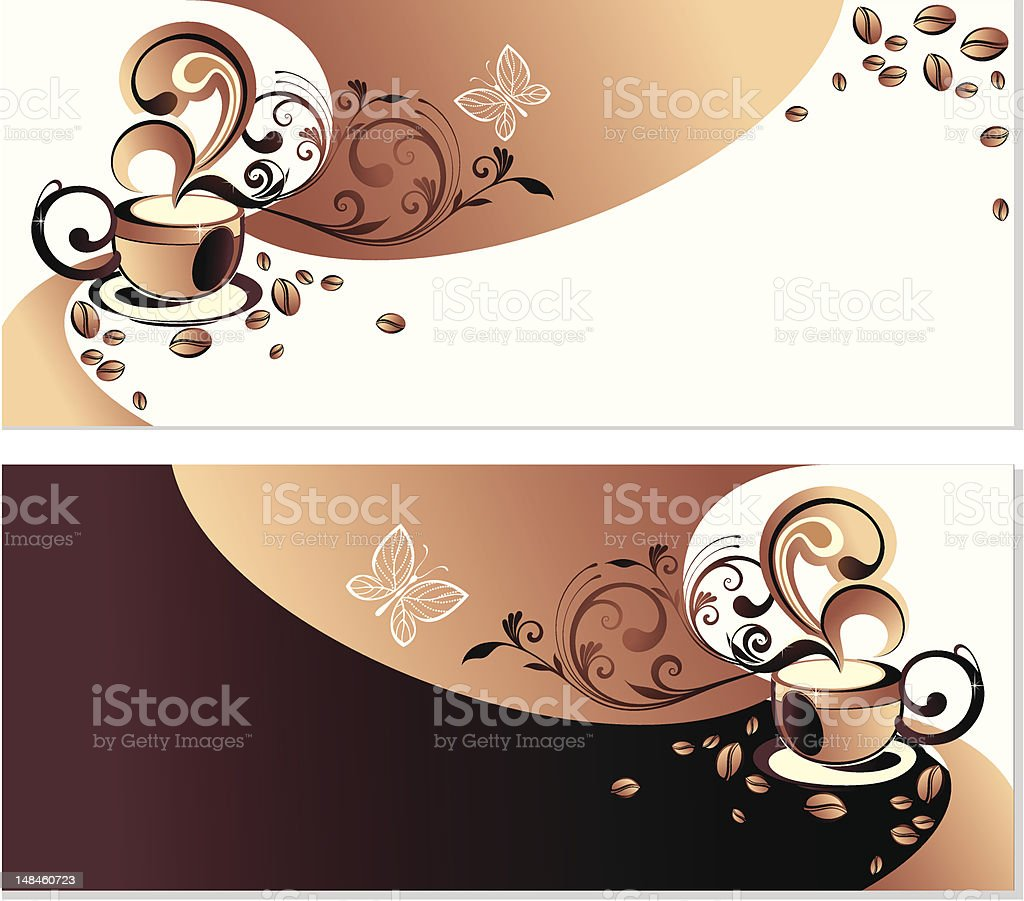 Hot drink (coffee, tea) royalty-free stock vector art