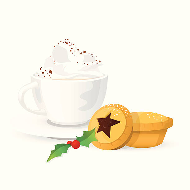 Royalty free mince pies clip art vector images illustrations istock hot drink with cream christmas mince pies vector art illustration voltagebd Image collections
