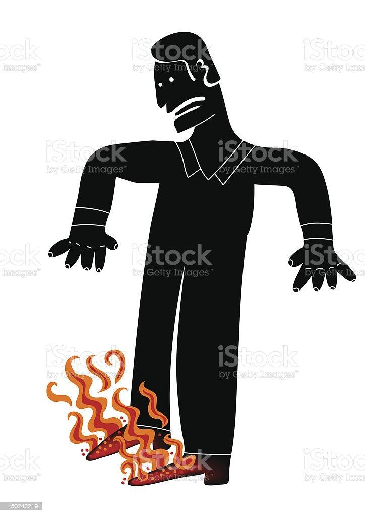 Hot feet royalty-free stock vector art