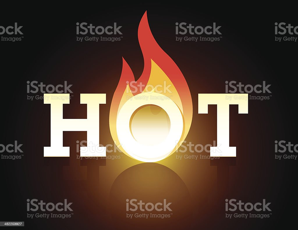 Hot Flaming Type vector art illustration