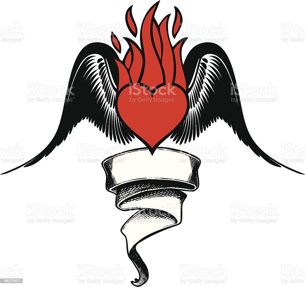 Hot Flying Love Tattoo royalty-free hot flying love tattoo stock vector art & more images of animal wing
