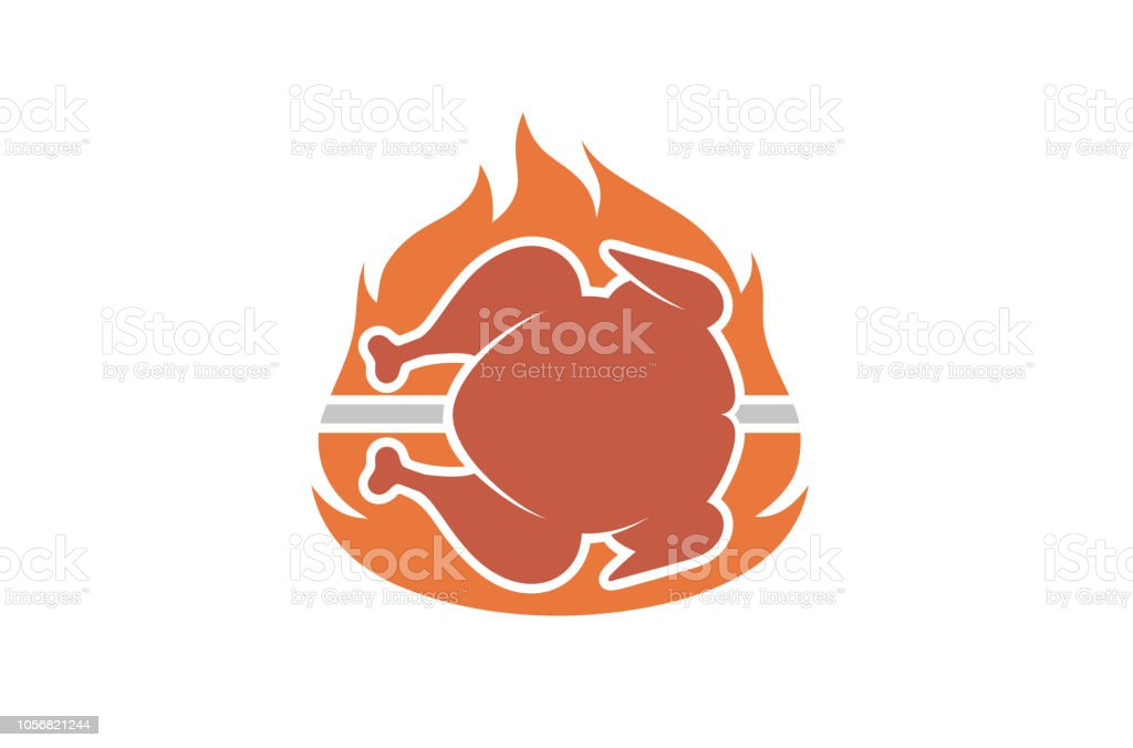 Hot Food Chicken Fire Logo Stock Vector Art More Images Of