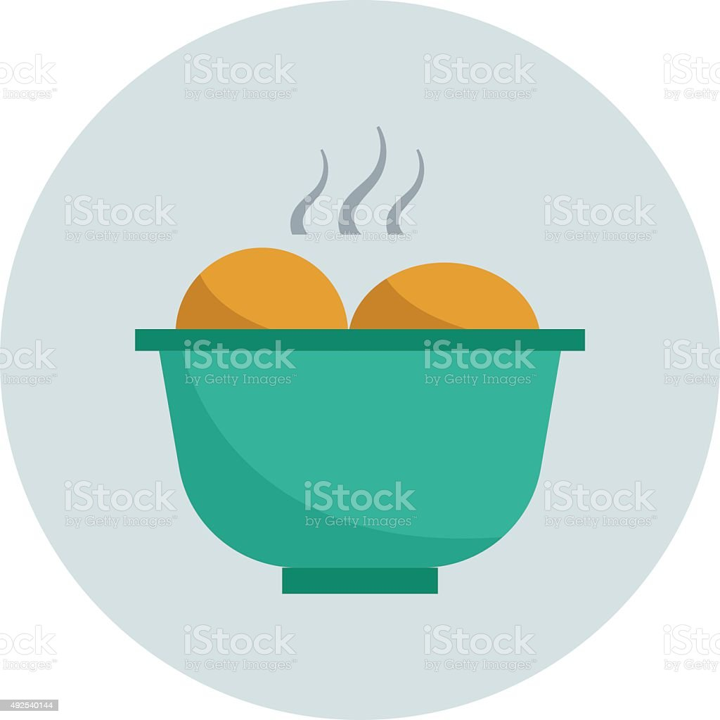 Hot Food Colored Vector Icon vector art illustration