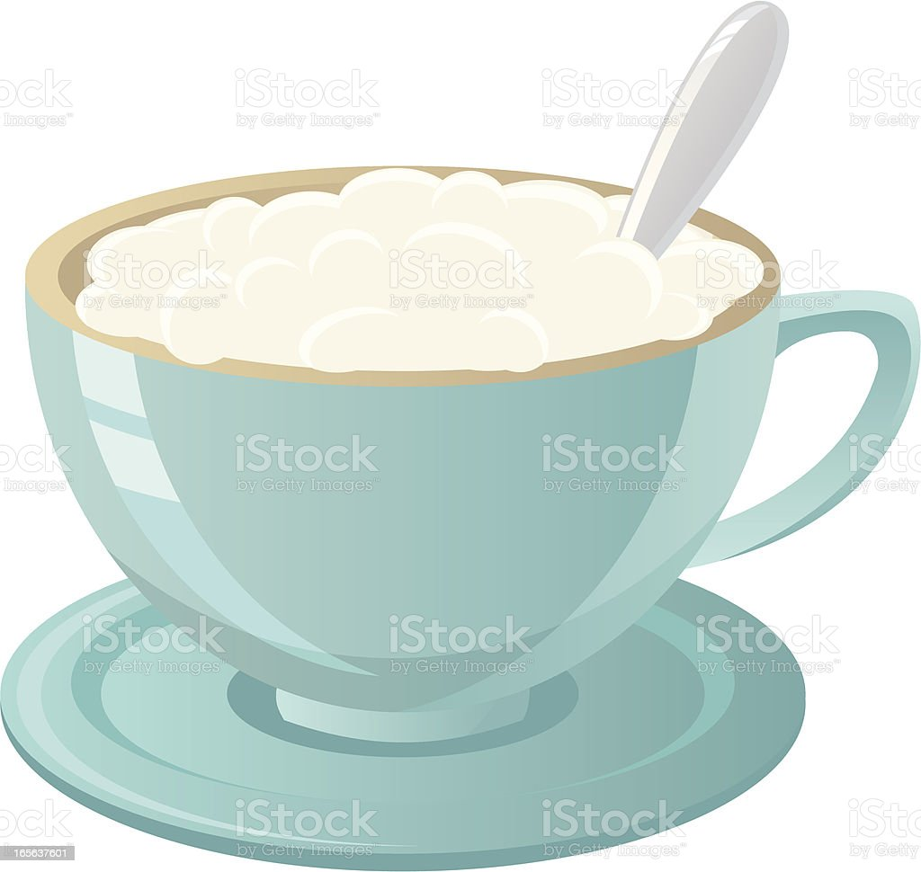 Hot frothy cappuccino royalty-free stock vector art