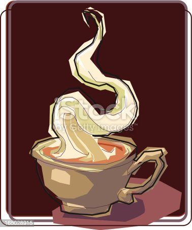 A vector of a hot cup of Coffee or  Latte or any other high priced caffene product.