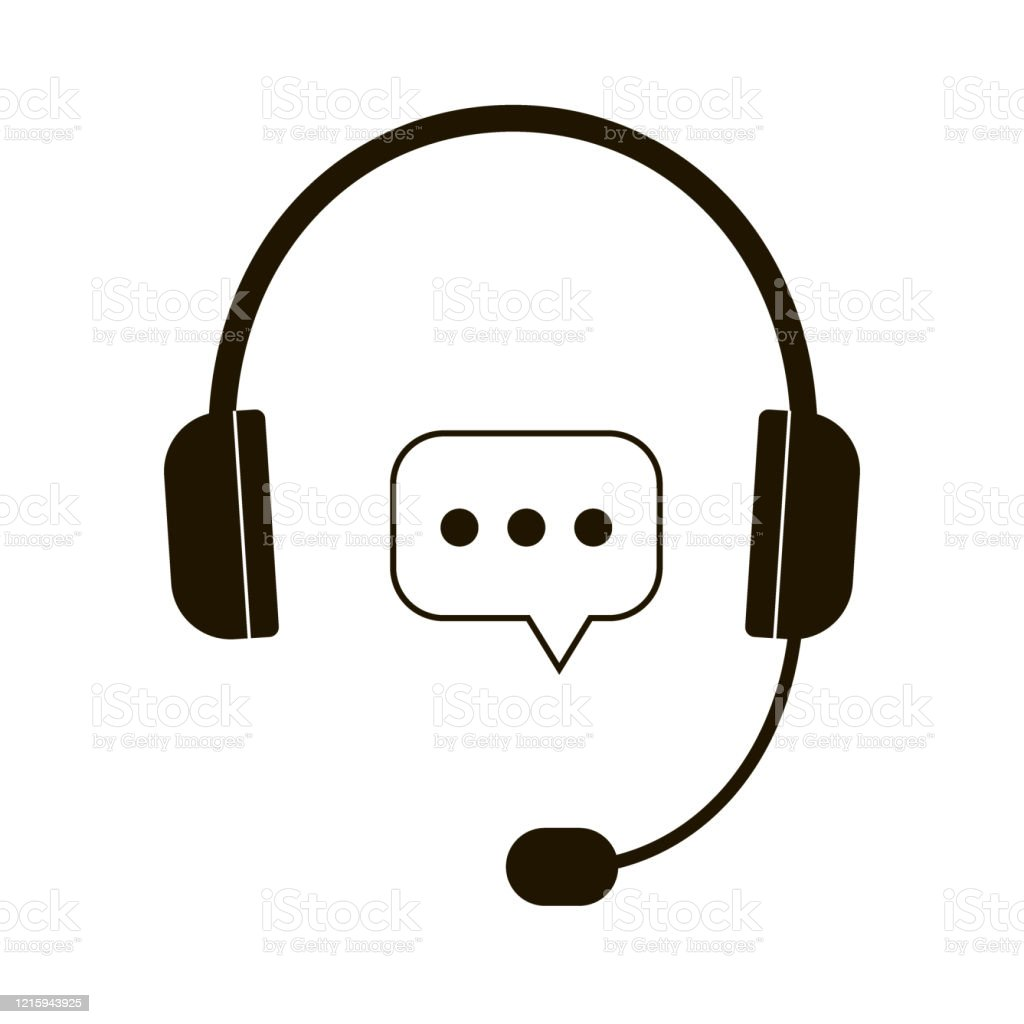 Hot Line Help Response Consultation Via Telephone At Call Center Headphones With Microphone Icon Head Phone Black Vector Stock Illustration Download Image Now Istock
