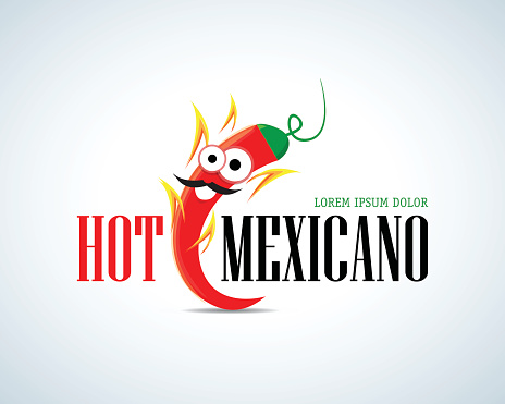 Hot Mexicano Chili Pepper Cartoon Mascot Logo template