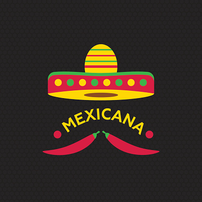 Hot Mexicano Chili Pepper Logo template. Mexican Fast food logotype