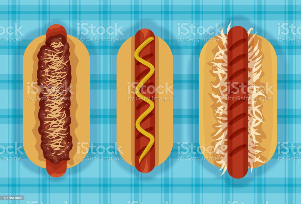 3 Hot ones vector art illustration