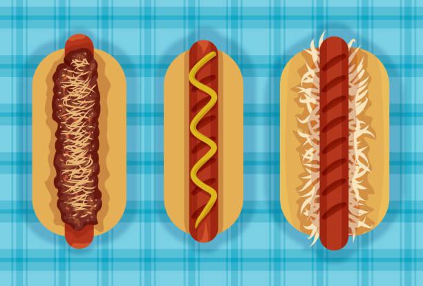 3 Hot ones vector art illustration